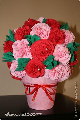 Салфеток букет из цветов своими руками