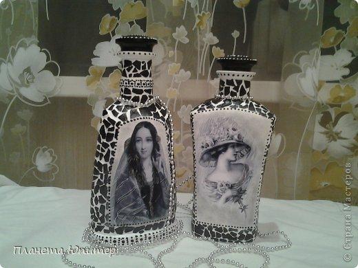 Добрый всем субботний вечер! Здравствуйте, друзья! Сегодня я к вам с бутылочками... Собралось две из одной серии, так сказать... Подсказала мне эту идею мастерица Н@стасья... У нее и бутылочка даже такая была... https://stranamasterov.ru/node/481034?c=favorite фото 5