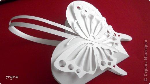 Поделка изделие Валентинов день Вырезание Butterfly heart Basket Бумага фото 2
