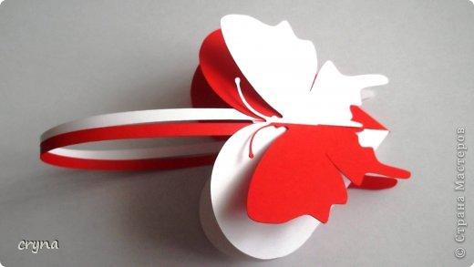 Поделка изделие Валентинов день Вырезание Butterfly heart Basket Бумага фото 1