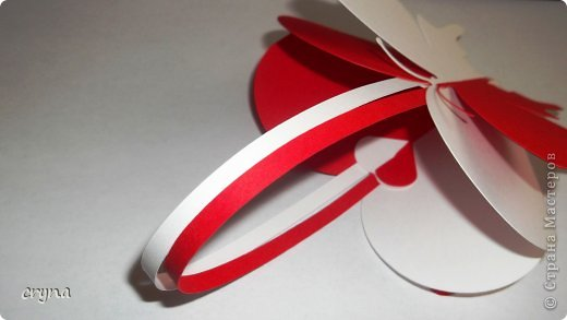 Поделка изделие Валентинов день Вырезание Butterfly heart Basket Бумага фото 5
