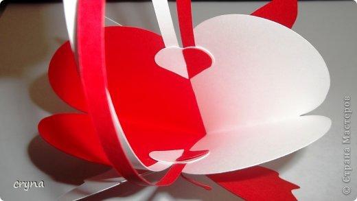 Поделка изделие Валентинов день Вырезание Butterfly heart Basket Бумага фото 6