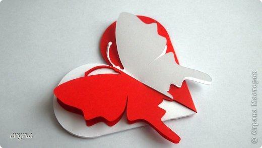 Поделка изделие Валентинов день Вырезание Butterfly heart Basket Бумага фото 3