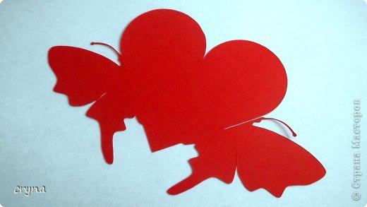 Поделка изделие Валентинов день Вырезание Butterfly heart Basket Бумага фото 7