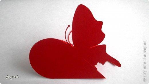Поделка изделие Валентинов день Вырезание Butterfly heart Basket Бумага фото 8