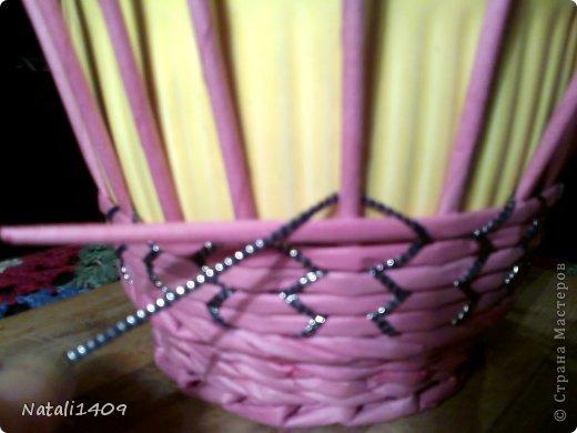 Мастер-класс Поделка изделие Декупаж Плетение Необычное плетение Бумага газетная Тесьма шнур Трубочки бумажные фото 2