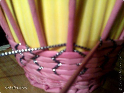 Мастер-класс Поделка изделие Декупаж Плетение Необычное плетение Бумага газетная Тесьма шнур Трубочки бумажные фото 4
