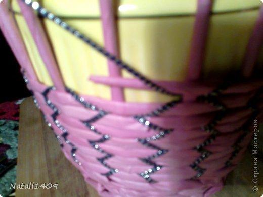 Мастер-класс Поделка изделие Декупаж Плетение Необычное плетение Бумага газетная Тесьма шнур Трубочки бумажные фото 7