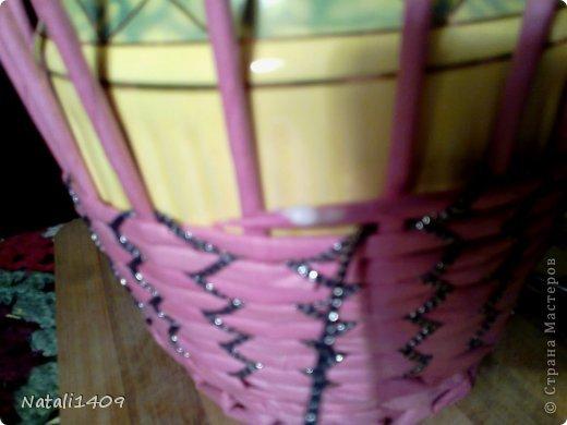 Мастер-класс Поделка изделие Декупаж Плетение Необычное плетение Бумага газетная Тесьма шнур Трубочки бумажные фото 9