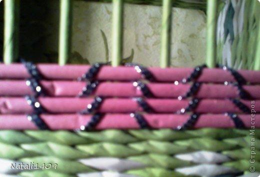 Мастер-класс Поделка изделие Декупаж Плетение Необычное плетение Бумага газетная Тесьма шнур Трубочки бумажные фото 17
