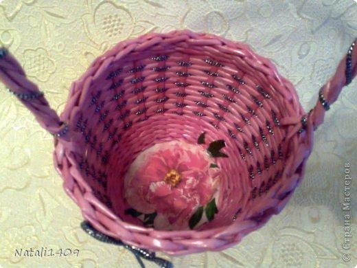 Мастер-класс Поделка изделие Декупаж Плетение Необычное плетение Бумага газетная Тесьма шнур Трубочки бумажные фото 14