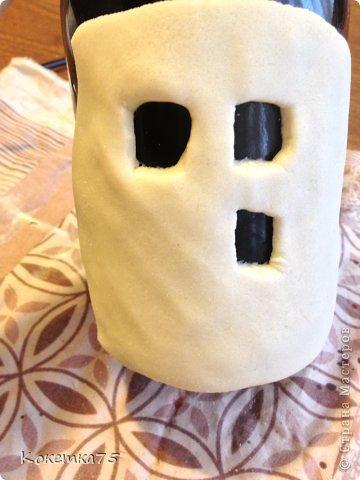 Здравствуйте дорогие мастерицы и мастера, сегодня я хочу показать Вам как я делаю бутылки-домики...... фото 9
