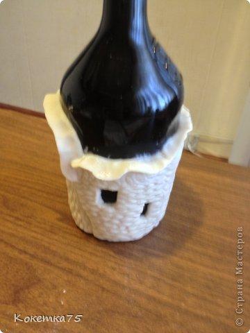 Здравствуйте дорогие мастерицы и мастера, сегодня я хочу показать Вам как я делаю бутылки-домики...... фото 26