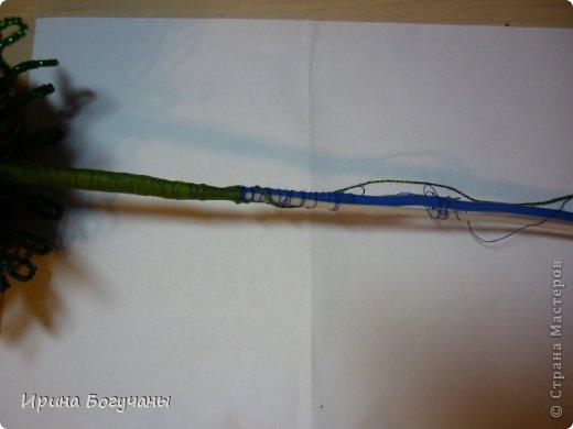 МК Подсолнухи из бисера на полянке.