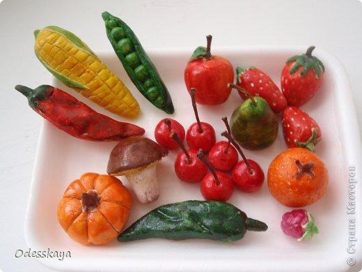 Овощи из соленого теста своими руками пошаговая