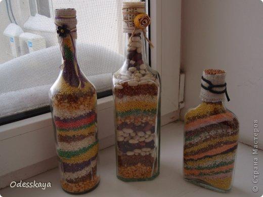 Декор по бутылкам