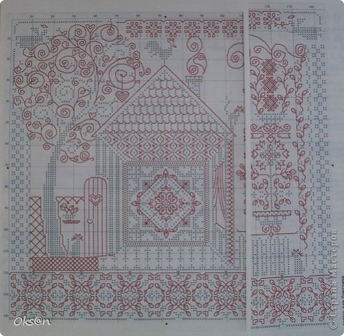 Схемы для вышивки крестом меланжевыми нитками 16