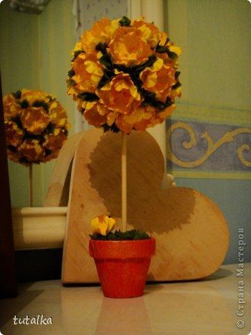Топиарий цветы из бумаги для акварели