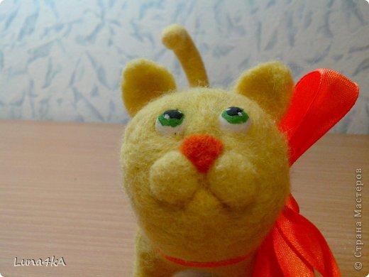 Вот такого котика я сделала. Делала его по мастер классу Елены Смирновой. Но получилось не очень похоже на ее Чуню.  фото 2