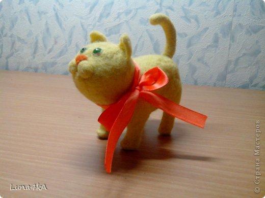 Вот такого котика я сделала. Делала его по мастер классу Елены Смирновой. Но получилось не очень похоже на ее Чуню.
