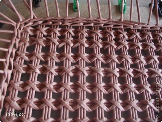 Мастер-класс Поделка изделие Плетение А теперь немного о мебели  + МК Бумага газетная Трубочки бумажные фото 12