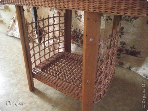 Мастер-класс Поделка изделие Плетение А теперь немного о мебели  + МК Бумага газетная Трубочки бумажные фото 19