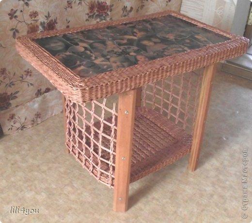 Мастер-класс Поделка изделие Плетение А теперь немного о мебели  + МК Бумага газетная Трубочки бумажные фото 1