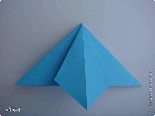 """Готовлюсь к занятиям кружка """"Оригами"""". Тема """"Орнаменты"""". Чтобы заинтересовать, стараюсь сделать образцы. Вот что у меня получилось сегодня. Это орнамент """"Иллюзия"""". Делала по книге Т.Сержантовой """"100 праздничных моделей оригами"""". Выглядит красиво, но уж очень много слоев. Ведь этот орнамент из 20 модулей. фото 43"""