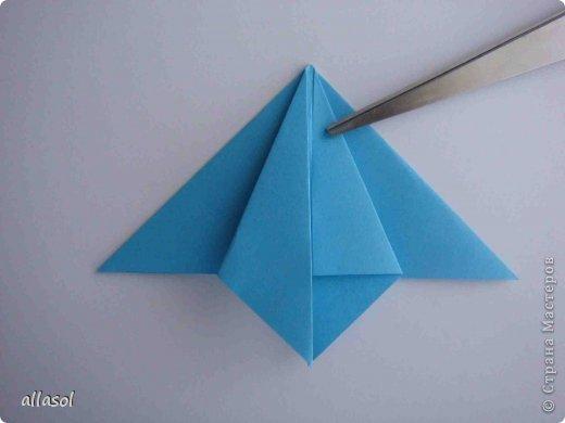 """Готовлюсь к занятиям кружка """"Оригами"""". Тема """"Орнаменты"""". Чтобы заинтересовать, стараюсь сделать образцы. Вот что у меня получилось сегодня. Это орнамент """"Иллюзия"""". Делала по книге Т.Сержантовой """"100 праздничных моделей оригами"""". Выглядит красиво, но уж очень много слоев. Ведь этот орнамент из 20 модулей. фото 45"""