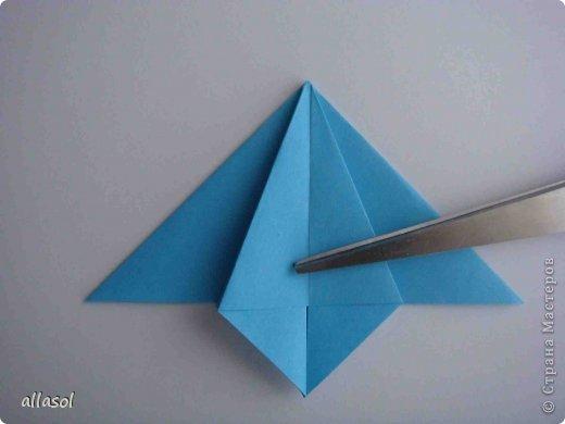 """Готовлюсь к занятиям кружка """"Оригами"""". Тема """"Орнаменты"""". Чтобы заинтересовать, стараюсь сделать образцы. Вот что у меня получилось сегодня. Это орнамент """"Иллюзия"""". Делала по книге Т.Сержантовой """"100 праздничных моделей оригами"""". Выглядит красиво, но уж очень много слоев. Ведь этот орнамент из 20 модулей. фото 46"""