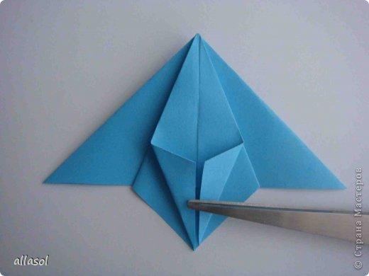 """Готовлюсь к занятиям кружка """"Оригами"""". Тема """"Орнаменты"""". Чтобы заинтересовать, стараюсь сделать образцы. Вот что у меня получилось сегодня. Это орнамент """"Иллюзия"""". Делала по книге Т.Сержантовой """"100 праздничных моделей оригами"""". Выглядит красиво, но уж очень много слоев. Ведь этот орнамент из 20 модулей. фото 47"""