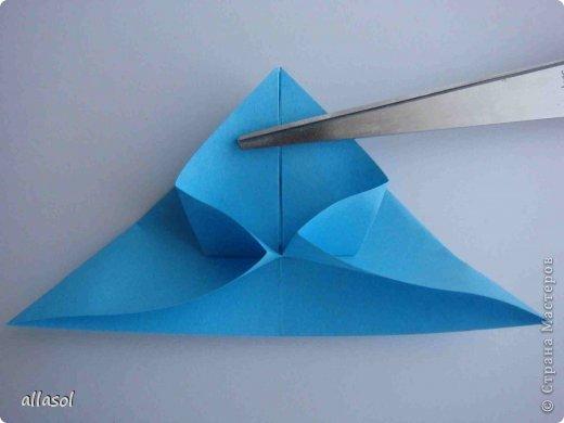 """Готовлюсь к занятиям кружка """"Оригами"""". Тема """"Орнаменты"""". Чтобы заинтересовать, стараюсь сделать образцы. Вот что у меня получилось сегодня. Это орнамент """"Иллюзия"""". Делала по книге Т.Сержантовой """"100 праздничных моделей оригами"""". Выглядит красиво, но уж очень много слоев. Ведь этот орнамент из 20 модулей. фото 48"""
