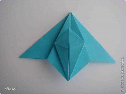 """Готовлюсь к занятиям кружка """"Оригами"""". Тема """"Орнаменты"""". Чтобы заинтересовать, стараюсь сделать образцы. Вот что у меня получилось сегодня. Это орнамент """"Иллюзия"""". Делала по книге Т.Сержантовой """"100 праздничных моделей оригами"""". Выглядит красиво, но уж очень много слоев. Ведь этот орнамент из 20 модулей. фото 49"""