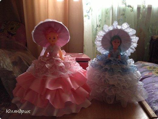Платье для куклы из атласной ленты своими руками 97