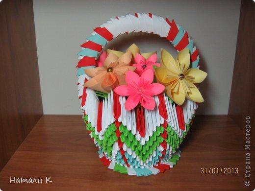 Корзина с цветами Бумага