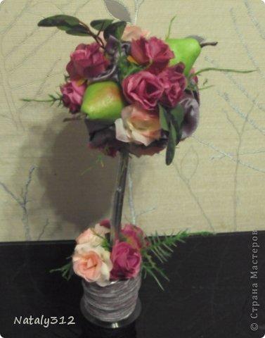 """Такие вот сердечные """"комплименты"""" приготовила ко Дню Св. Валентина. Сердца из пеноплэкса и салфеток, цветы искусственные. фото 15"""