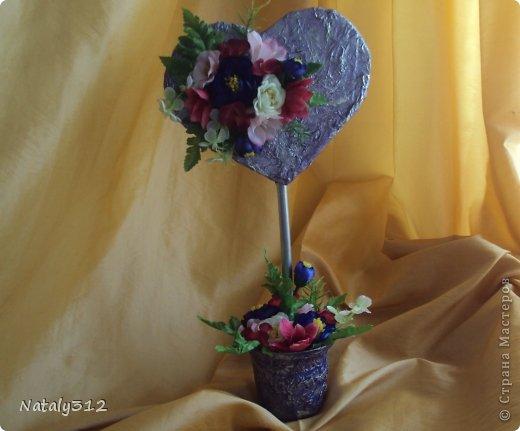 """Такие вот сердечные """"комплименты"""" приготовила ко Дню Св. Валентина. Сердца из пеноплэкса и салфеток, цветы искусственные. фото 3"""
