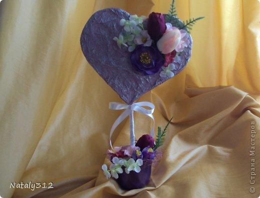 """Такие вот сердечные """"комплименты"""" приготовила ко Дню Св. Валентина. Сердца из пеноплэкса и салфеток, цветы искусственные. фото 7"""