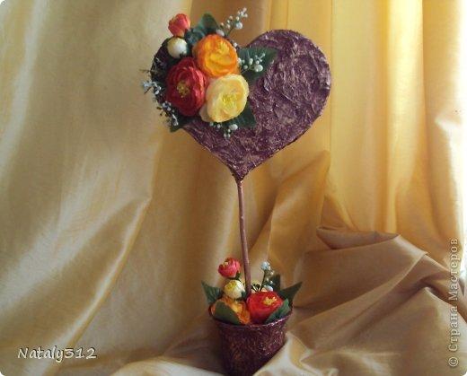 """Такие вот сердечные """"комплименты"""" приготовила ко Дню Св. Валентина. Сердца из пеноплэкса и салфеток, цветы искусственные. фото 8"""