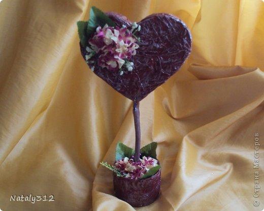 """Такие вот сердечные """"комплименты"""" приготовила ко Дню Св. Валентина. Сердца из пеноплэкса и салфеток, цветы искусственные. фото 9"""