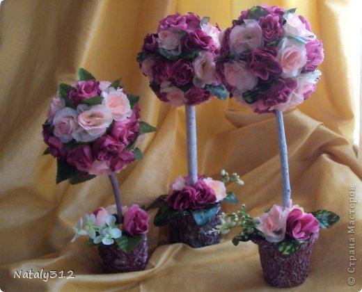 """Такие вот сердечные """"комплименты"""" приготовила ко Дню Св. Валентина. Сердца из пеноплэкса и салфеток, цветы искусственные. фото 11"""