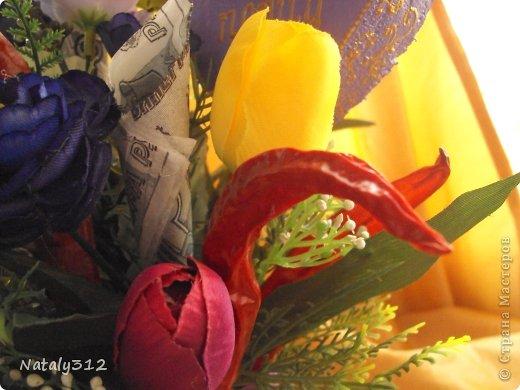 """Такие вот сердечные """"комплименты"""" приготовила ко Дню Св. Валентина. Сердца из пеноплэкса и салфеток, цветы искусственные. фото 18"""