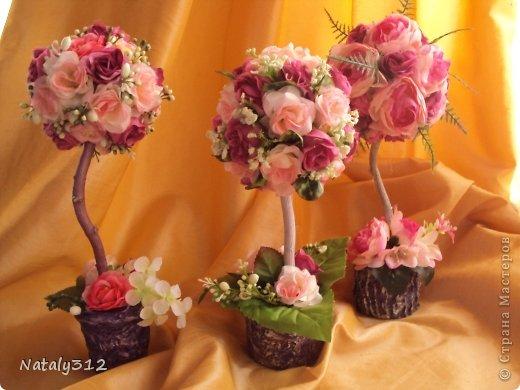 """Такие вот сердечные """"комплименты"""" приготовила ко Дню Св. Валентина. Сердца из пеноплэкса и салфеток, цветы искусственные. фото 10"""