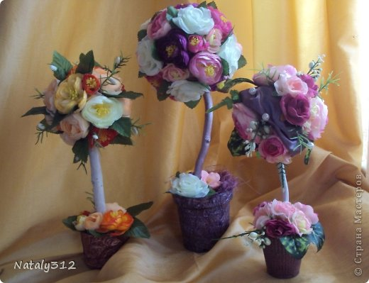 """Такие вот сердечные """"комплименты"""" приготовила ко Дню Св. Валентина. Сердца из пеноплэкса и салфеток, цветы искусственные. фото 12"""