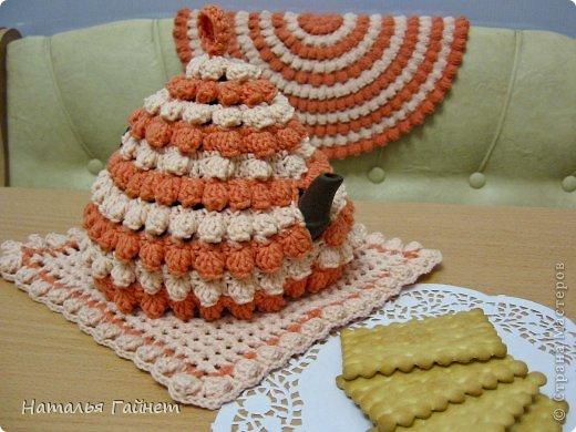 Доброго всем дня! У меня связалась персиково-ванильная тройка. Люблю Голубкины презенты.В доме потом становится уютнее и красивее.  фото 24