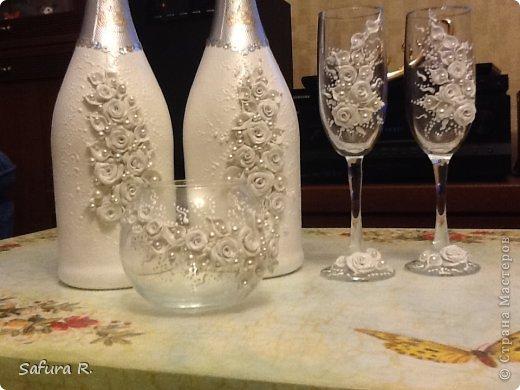 Декор бутылок к свадьбе мастер класс