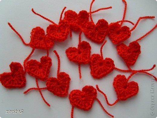 Вязание крючком маленькое сердечко