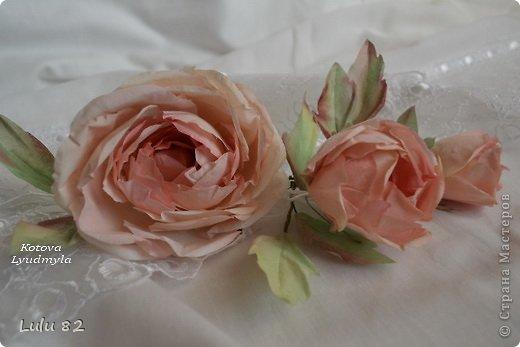 Мастер-класс Как сделать розу из ткани или мои долгие мучения бессонными ночами Часть первая Краска Материал природный Проволока Ткань фото 2