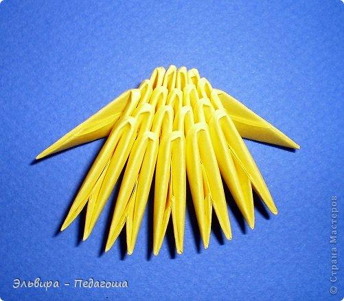 Мастер-класс Поделка изделие Оригами китайское модульное Цыплятки Бумага фото 6