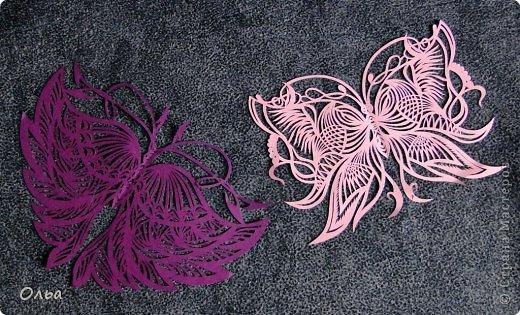 Поделка изделие Вырезание Цветные бабочки Бумага фото 2